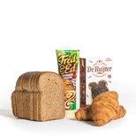 Afbakbroodjes, broodbeleg, toast, cereals