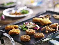 Gourmet vegetarisch menu met bakplaat