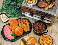 Winter Barbecue menu (18 nov / 16 maart), prijs is per persoon.